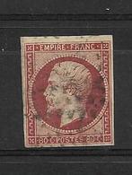 France Timbres De 1854 Napoleon III  N°17A  Oblitéré   Cote 70€ (vendu A 10%) - 1853-1860 Napoléon III