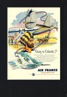 Aviation Postcard Air France Calcutta - Reproduction - Pubblicitari