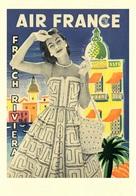 Aviation Postcard Air France Riviera - Reproduction - Pubblicitari