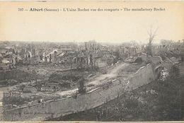 Albert (Somme) -L'Usine Rochet Vue Des Remparts, Ruines De La Guerre - Edition R. Lelong, Carte N° 707 Non Circulée - Albert