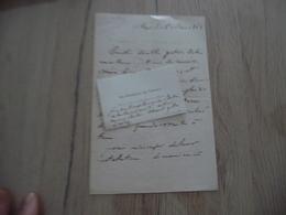 LAS Autographe + CDV De Vercly Général à Mr DE Briton Artillerie En Algérie 1865 Remerciements - Autogramme & Autographen