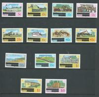 Nevis 1980 Overprint Definitive Set Of 13 To $10 MNH - St.Kitts And Nevis ( 1983-...)