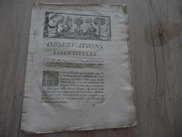 Justice Cassation 1769 Observations Pour Gilbert Charlemagne Gaudet Université Paris 22 P La Régale - Historical Documents