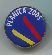 Ski Skiing Jumping - FIS PLANICA, Slovenia, Pin, Badge, Abzeichen, D 30 Mm - Winter Sports