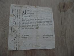 Reçu 14/06/1692 11 Pièces Eau De Vie Orléans Naudet Jaquemar Coupé Sur Sa Droite - Historical Documents