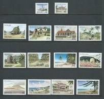 Nevis 1981 Scene Definitive Set 14 Inscribed 1982 At Base  MNH , 3 Lower Value With Tone Spots - St.Kitts And Nevis ( 1983-...)
