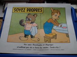 """SOYEZ PROPRES > Edit.: ROUDOUDOU-RIQUIQUI Paris ( Affichette Murale N° 1 """" LA PROPRETE """" > Voir Photo Svp ) - Affiches"""