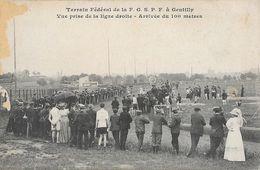Athlétisme - Terrain Fédéral De La F.G.S.P.F. à Gentilly, Vue Prise Sur La Ligne Droite, Arrivée Du 100 Mètres - Atletismo