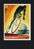 Cycle Postcard Campionati Del Mondo Milano-Varese 1939 - Reproduction - Pubblicitari