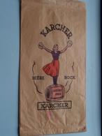 """Sac Papier KARCHER Bière - Bock / Karcher Paris / Bière De Grande Origine """" PILSKA """" ( Voir Photo Svp ) - Autres Collections"""