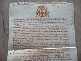 Italie Italia Padoue 1714 Mandat De Dépôt Mont De Piété - Historical Documents