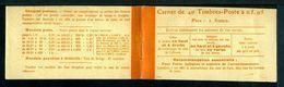 Carnet Semeuse 158-C1 - Couverture Vide Très Très Belle. - Usage Courant