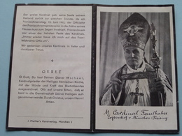 DP Eminenz MICHAEL Von FAULHABER Erzbischof Geb. 5 März 1869 Klosterheidenfeld - 12 Juni 1952 ! - Avvisi Di Necrologio
