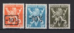 724G/724I MNH** 1946 - Heraldieke Leeuw Belgique - België - 1946 -10%