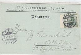 Karten Aus Hotel Lünenschloss In HAGEN 23.4.04 Nach Nordhausen - Briefe U. Dokumente