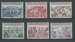 French Guiana Guyana 1946 Du Tchad Au Rhin Set Of 6 Imperforate MNH - Guyane Française (1886-1949)