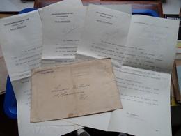 Arbeitseinsatz (3 Stuk) FELDKOMMANDANTUR 520 Verwaltungschef ANTWERPEN ( Lemaire Nathalie ) Anno 1943 ( Met Omslag ) ! - Documents