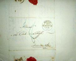 78 HOUDAN CACHET POSTAL  ET  TAMPONS  SUR LETTRE EXPEDIEE AU COMTE DE LA BISSE 1831 - Marcophilie (Lettres)