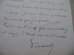 Consulat France Tripoli De Barbarie 218/04/1881 LAS Autographe Ferrand à Propos Des Tribus Indociles Khoumir. - Autographes