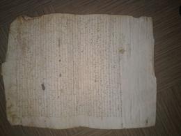 Beau Parchemin Format A3 Du 3/12/1583 Concernant Cassagnas (Lozère) - Manoscritti
