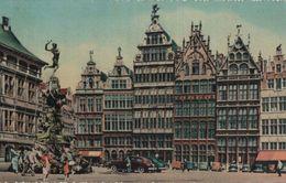 Belgien - Antwerpen - Huizen Der Grote Markt En Monument Van Brabo - Ca. 1960 - Antwerpen