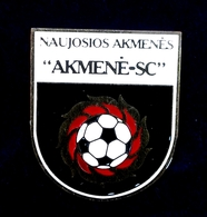 Football Pins  -  AKMENE-SC, Naujoji Akmene - Lithuania. - Football
