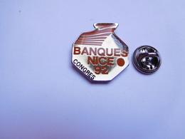 Beau Pin's , Congrés Des Banques 1992 à Nice , Syndicat CFDT - Banken