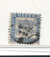 D-Bad044 / Baden, Mi.Nr. 19a, Ortsstempel - Baden
