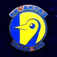 Football Pins  -  F.K. AKTAS, Vilnius - Lithuania. - Football