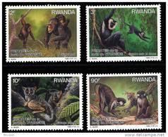 Rwanda 1324/27** Primates  Dessin De  Buzin - MNH- - Rwanda