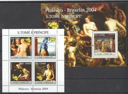 Y039 2004 S.TOME E PRINCIPE ART PHILEURO-BRUXELAS 1KB+1BL MNH - Künste