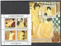 Y041 2004 S.TOME E PRINCIPE ART PINTURA JAPONESA 1KB+1BL MNH - Künste