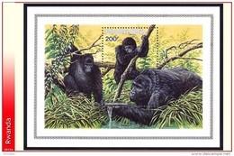 Rwanda BL 099**  Gorilles Des Montagnes III WWF  MNH - Rwanda