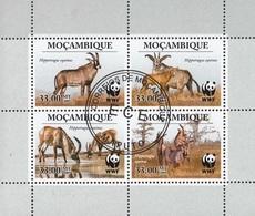 Mozambico 2009 Sc. 1930 Hippotragus Equinus - Antilope Roana WWF CTO Sheet Perf. - Protezione Dell'Ambiente & Clima