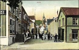 Cp Molde Schweden, Straße Mit Blick Auf Kirche - Suède