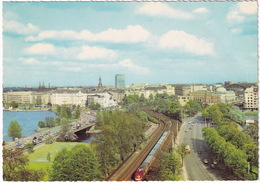 Hamburg: Trans-Europ-Express - T.E.E. ZUG - Lombardsbrücke Und Kennedy Brücke - Treinen
