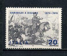 ITALIE 1970 N° 1055 ** Neufs  MNH TTB Chevaux Horses Combat Garibaldi Participation à La Guerre Franco Prussienne - 6. 1946-.. Repubblica