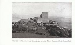 1924 - Iconographie - Barbaira (Aude) - Les Ruines Du Château De Miramont - FRANCO DE PORT - Old Paper