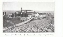 1924 - Iconographie - Alairac (Aude) - Vue Générale - FRANCO DE PORT - Old Paper