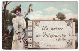 UN BAISER DE VILLEFRANCHE SUR SAONE ((carte Animée) - Villefranche-sur-Saone
