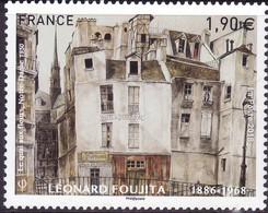 """FRANCE 2018 YT 5200 """"Leonard Foujita Le Quai Aux Fleurs Notre Dame 1950"""" - Frankreich"""