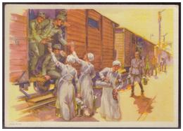 Dt-Reich (007305) Propaganda Postkarte,das Wirken Des Deutschen Roten Kreuzes, Blanco Gstempelt Mit SST Wien Am 1.5.1941 - Deutschland
