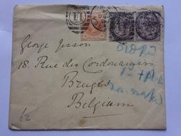 GB Victoria 1894 Cover Chelsea Duplex Sent To Bruges Belgium - 1840-1901 (Victoria)