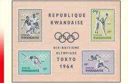Rwanda BL 002** Jeux Olympiques Tokio MNH - Rwanda