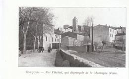 1924 - Iconographie - Conques-sur-Orbiel (Aude) - Vue Générale - FRANCO DE PORT - Old Paper