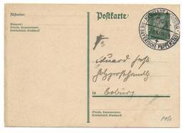 Deutsches Reich Postkarte With Special Cancel Neustadt Coburg Die Bayerische Puppenstad (doll Town) - Puppen