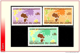 Zaire 0832/34**  Foire De Kinshasa MNH - Zaïre