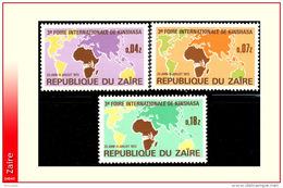 Zaire 0832/34**  Foire De Kinshasa MNH - 1971-79: Neufs
