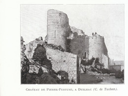 1924 - Iconographie - Duilhac-sous-Peyrepertuse (Aude) - Le Château De Pierre-Pertuse - FRANCO DE PORT - Old Paper