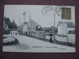 CPA 71 Vers CHALON SUR SAONE MELLECEY GERMOLLES Entrée Du Village RARE & ANIMEE 1917 Canton GIVRY - France